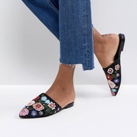 ASOS MOONFLOWER Embellished Mules at asos.com
