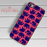 Lily Pulitzer Elephant Pattern-1nna for iPhone 4/4S/5/5S/5C/6/ 6+,samsung S3/S4/S5,S6 Regular,S6 edge,samsung note 3/4