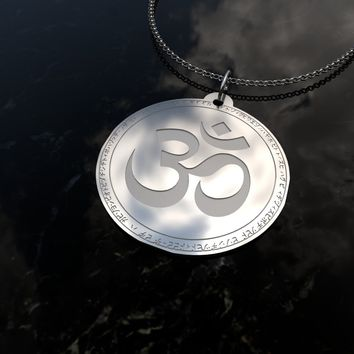 Yoga Om - Sterling Silver Necklace