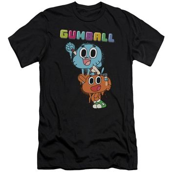 Amazing World Of Gumball - Gumball Spray Short Sleeve Adult 30/1 Shirt Officially Licensed T-Shirt