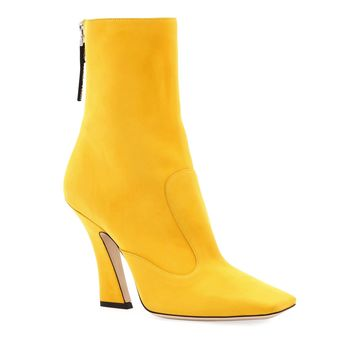 Yellow Rear Zip Ankle Boots by Fendi