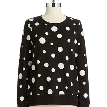 Jones New York Polka Dot Pullover