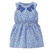 Carter's Embroidered Geometric Dress - Baby Girl, Size: