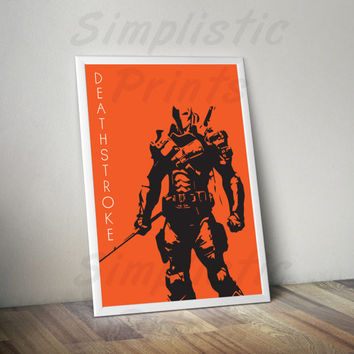 Deathstroke minimalist poster, wall art, comic book art, 8x10, 11x14, 13x19