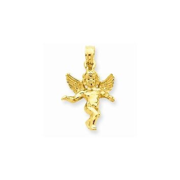 14k Yellow or White Gold Guardian Angel Pendant