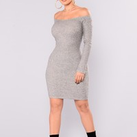 Kaly Sweater Dress - Heather Grey