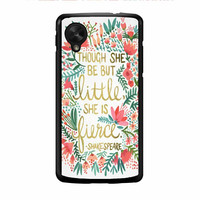 Red Flowers Though She Be But Little She Is Nexus 5 Case