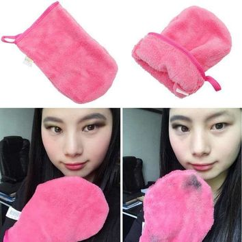 ESBON GUJHUI Reusable Microfiber Facial Cloth Pads Face Makeup Remover Cleansing Glove Tool