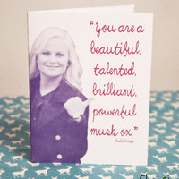 Parks and Rec-You Are a Beautiful Musk Ox- greeting card- blank inside