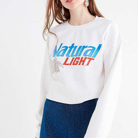 natural light white crewneck sweatshirt
