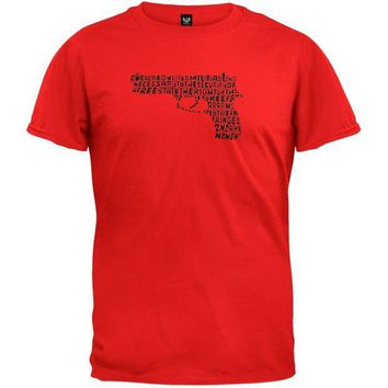 ONETOW 2nd Amendment Pistol Red T-Shirt