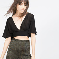 CROPPED STUDIO TOP