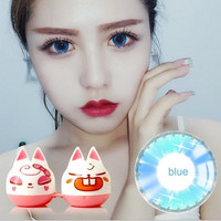 New Stars Flash Blue Cosmetic Contact Lenses