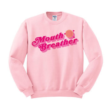 Mouth Breather Crewneck, Eleven Stranger, Waffles Shirt, The Upside Down, Ell And Mike, Valentine's Day