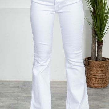 Hollywood White Flared Denim
