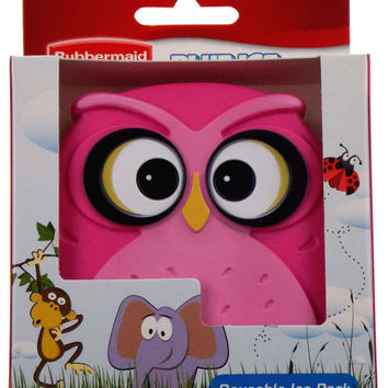Rubbermaid Blue Ice Reusable Pack Pink Owl Set of 2 Non Toxic Lunch Box Cooler