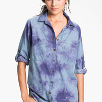 Fire Tie Dye Chambray Shirt (Juniors) | Nordstrom
