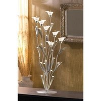Silver Calla Lily Tealight Candle Holder