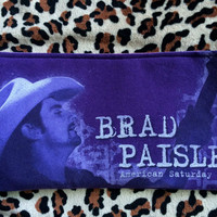 BRAD PAISLEY - Upcycled Concert/ Band T-shirt Makeup/ Pencil Pouch - ooak