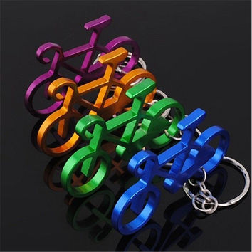 1 pc New High Quality Cycling Colorful Bicycle Metal Keychain Keyring