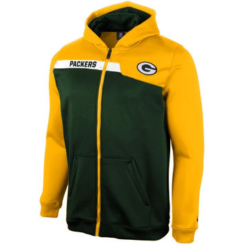 Green Bay Packers Youth Resilient Unbreakable Full Zip Hoodie - Green - http://www.shareasale.com/m-pr.cfm?merchantID=7124&userID=1042934&productID=547703536 / Green Bay Packers