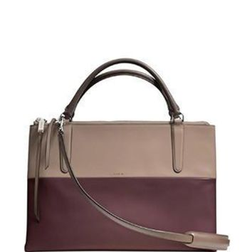 Coach Borough Bag In Retro Colorblock Smooth Leather