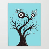 Excited Tree Monster Ink Drawing Notebook by borianagiormova