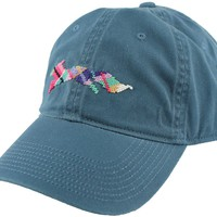 "Country Club Prep ""Longshanks"" Needlepoint Hat in Breaker Blue by Smathers & Branson"