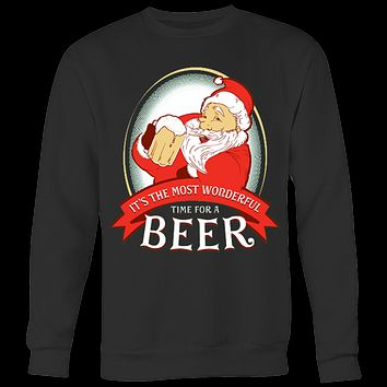 Wonderful Time For A Beer With Santa T-shirt