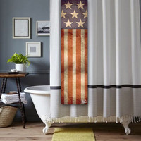 American Flag Shower Tag