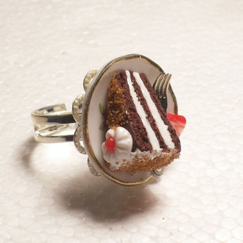 Chocolate Cake Ring. Polymer clay.