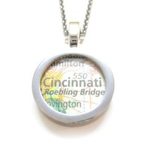 Cincinnati Ohio Map Pendant Necklace [Jewelry]