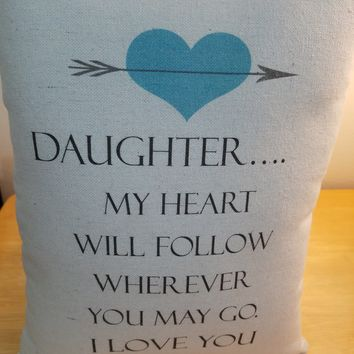 Daughter birthday gift pillow cotton throw pillow cushion bestseller