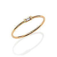 Zoe Chicco - Diamond & 14K Yellow Gold Horizontal Baguette Ring - Saks Fifth Avenue Mobile