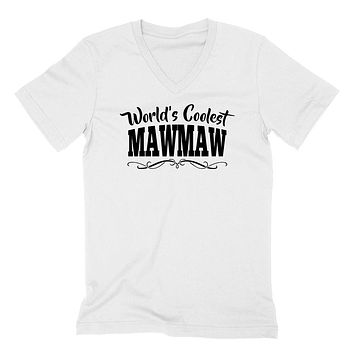 World's coolest mawmaw Mother's day birthday gift ideas for new grandma proud grandmom gifts for her  V Neck T Shirt