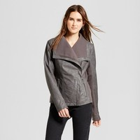 Women's Rib Knit Faux Leather Jacket - Mossimo™