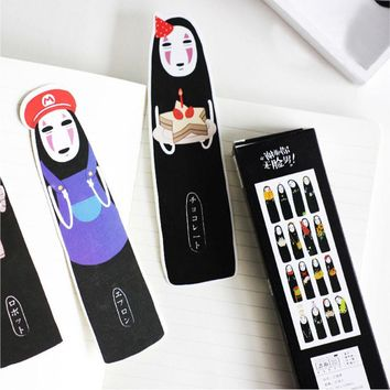 30 pcs/pack kawaii creative illustrations Student Stationery Bookmark Paper Cartoon Promotional Gift office Stationery Bookmark
