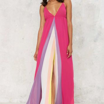 Nasty Gal Hazy Shades of Love Maxi Dress