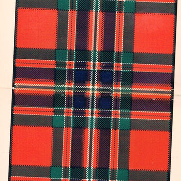 "Johnston's Scottish Tartans - ""MACFARLAND"" - Chromolithograph - c1890"