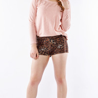 Pink Knit Sweatshirt