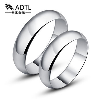 ADTL Genuine 925 Sterling Silver Rings For Man and Woman High Polish Wedding Band Classic Rings Sets Jewelry JZ0001