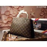 LV Louis Vuitton MONOGRAM CANVAS MEDIUM MONTAIGNE BB HANDBAG SHOULDER BAG