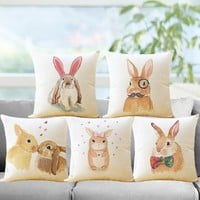 Cute Rabbit Pillowcase Cover