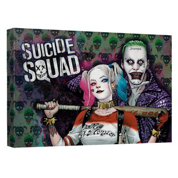 Suicide Squad - Perfect Couple Canvas Wall Art With Back Board