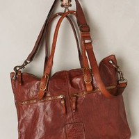 Campomaggi Strada Leather Tote Cedar One Size Bags