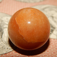 Genuine RED AVENTURINE Sphere - Aventurine Orb Sphere - 30 mm Gemstone Sphere - Metaphysical Crystals - Reiki - Meditation Stone - Scrying