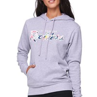Young & Reckless Original Reckless Pop Floral Hoodie - Womens Hoodie - Grey