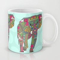 painted elephant aqua spot Mug by Sharon Turner | Society6