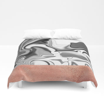 Marbled Sky Duvet Cover by printapix