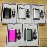 Starter Kit 9 Colors with TC 75W Melo 3 Mini Tanks Atomizer Invisible Airflow Control Vape Box Mod Vaporizer Pens Kits